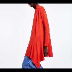 Zara Sweaters - Zara wrap cardigan orange sz small long sleeve